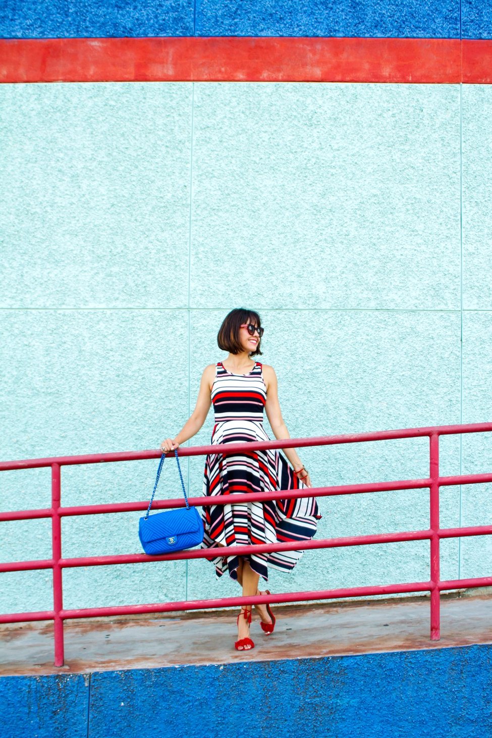 Wear Where Well ModCloth Workwear Red White Blue dress_0001