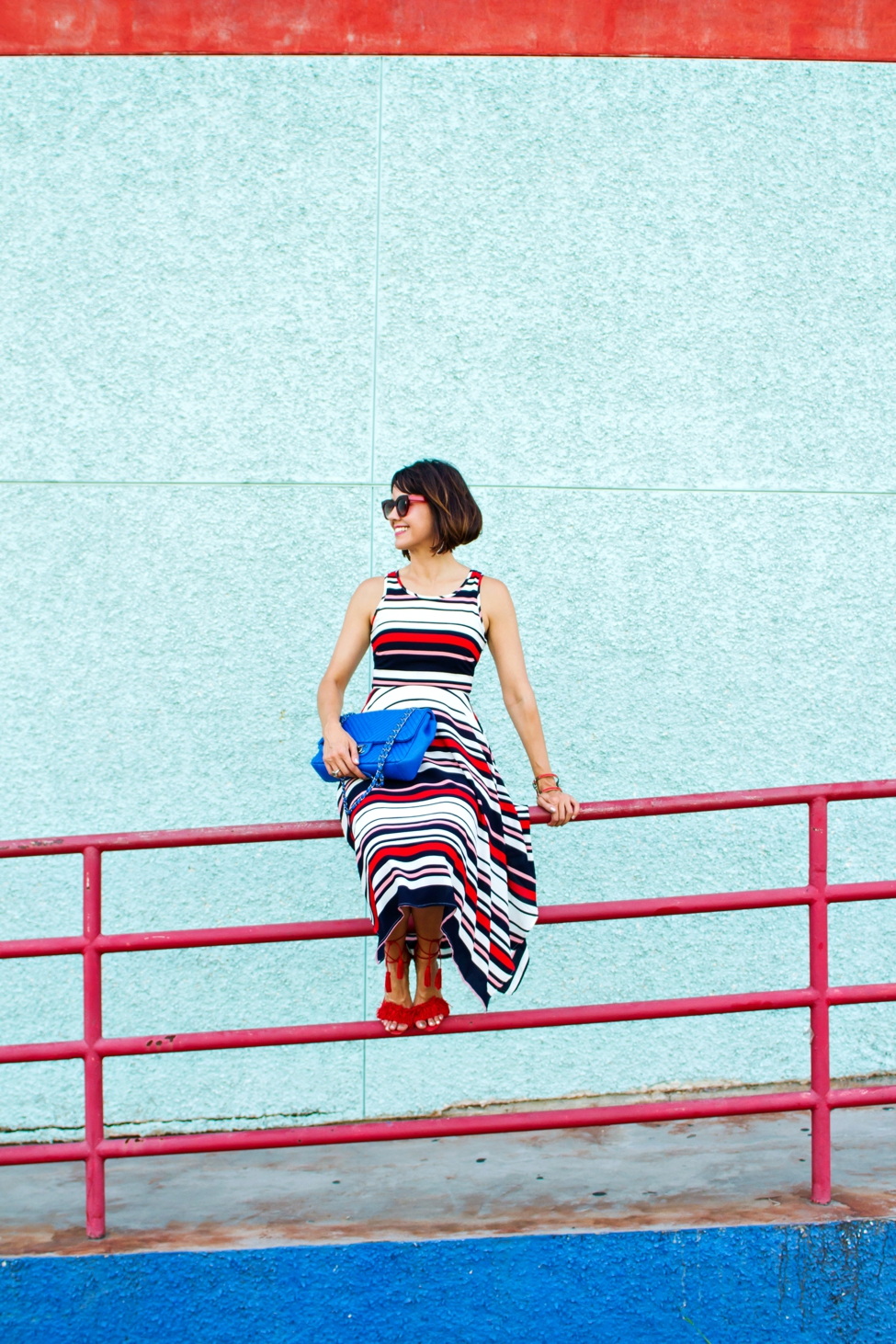 Wear Where Well ModCloth Workwear Red White Blue dress_0006
