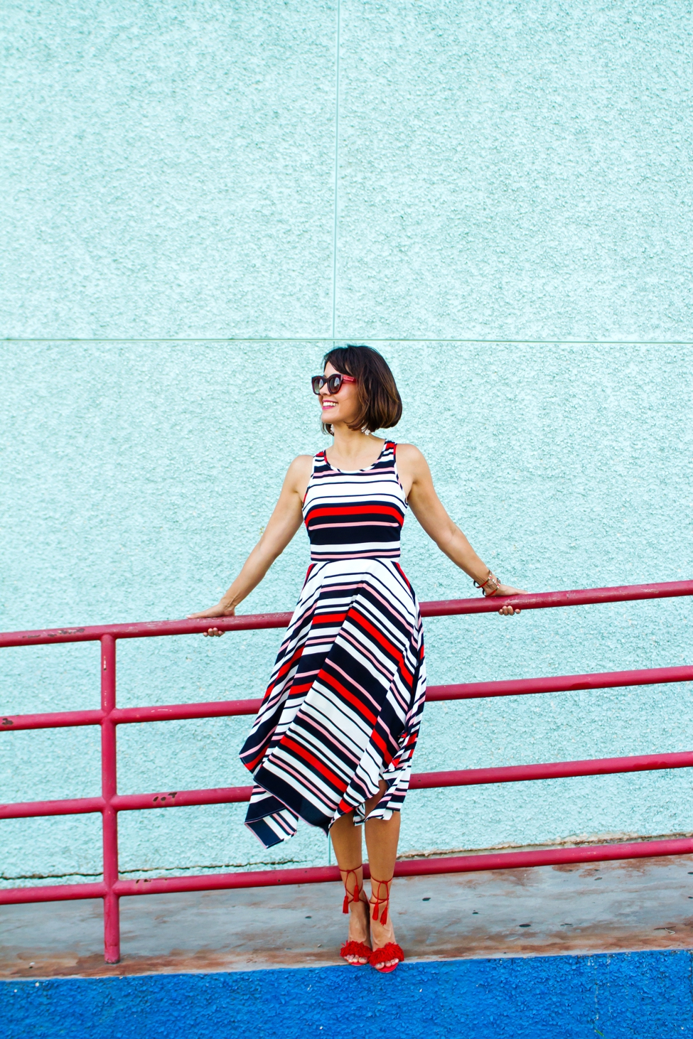 Wear Where Well ModCloth Workwear Red White Blue dress_0010