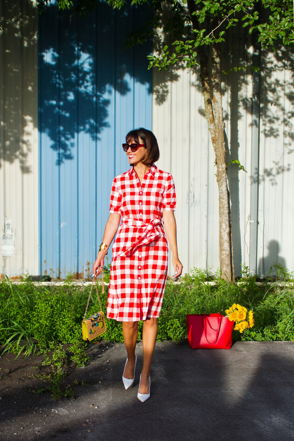 Wear Where Well Draper James gingham dress_0010