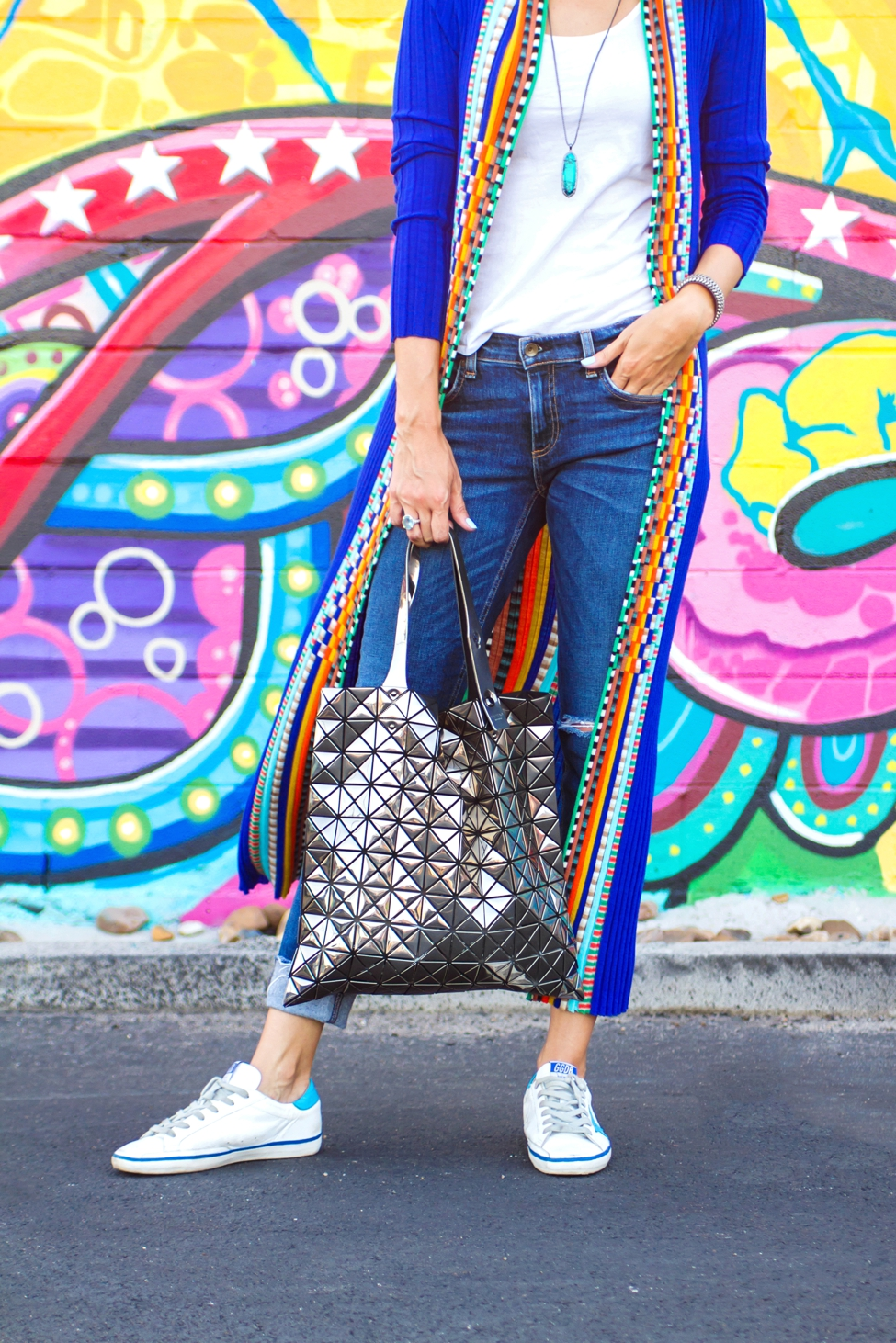 292d59ee2ea1 ... Wear Where Well Missoni cardigan Golden Goose sneakers Bao Bao Issey  Miyake bag 0003 ...