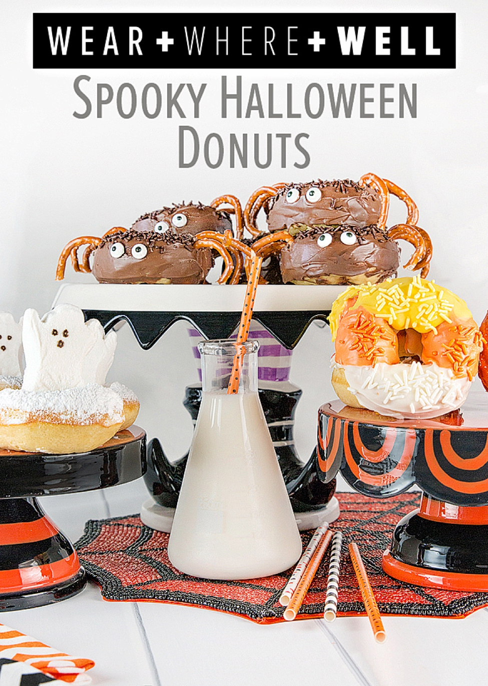 halloween donuts - how to make 4 spooky treats! - carrie colbert