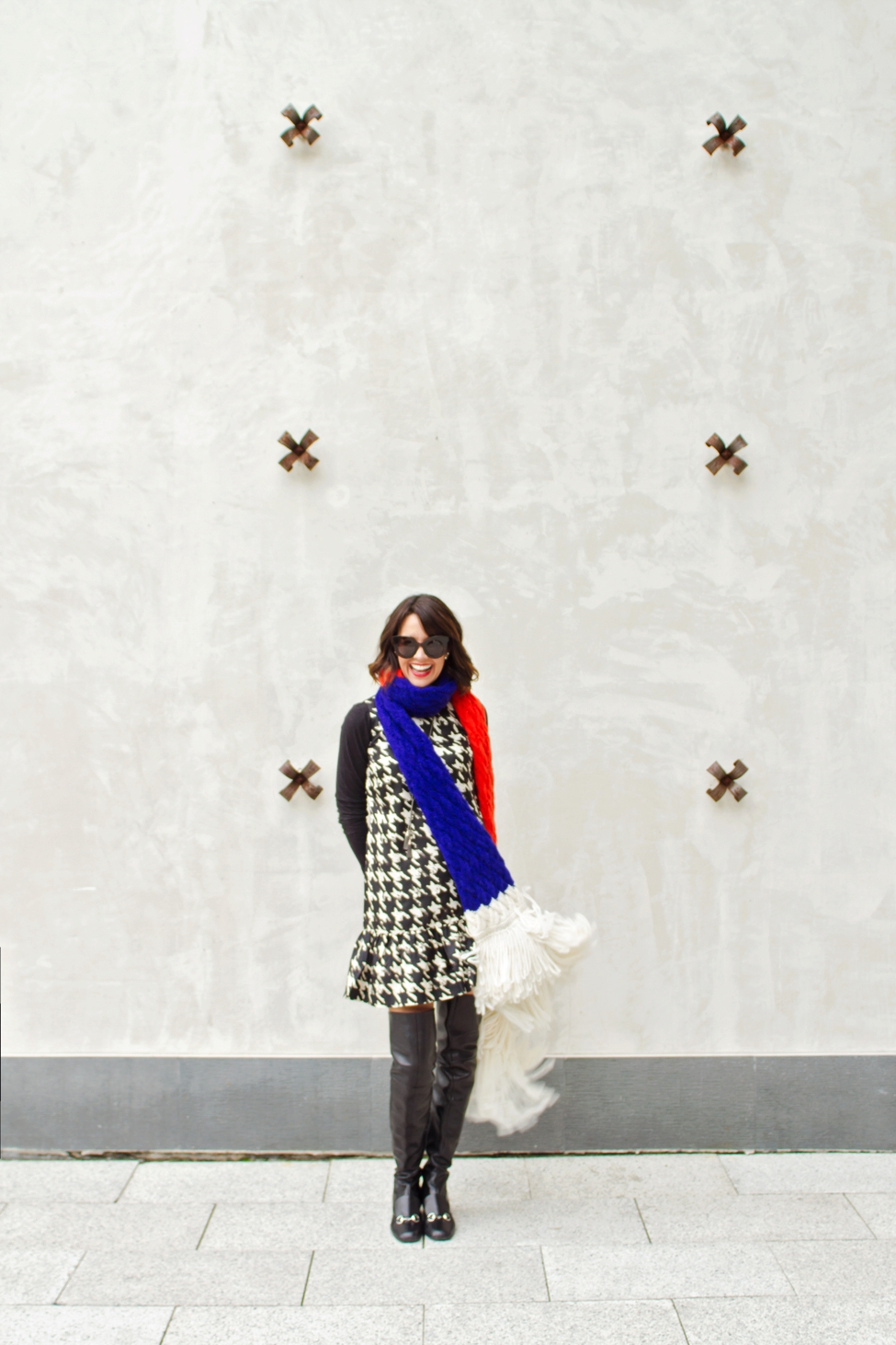 2665df718 This Silk Houndstooth Dress Has Become a Holiday Favorite - Carrie ...