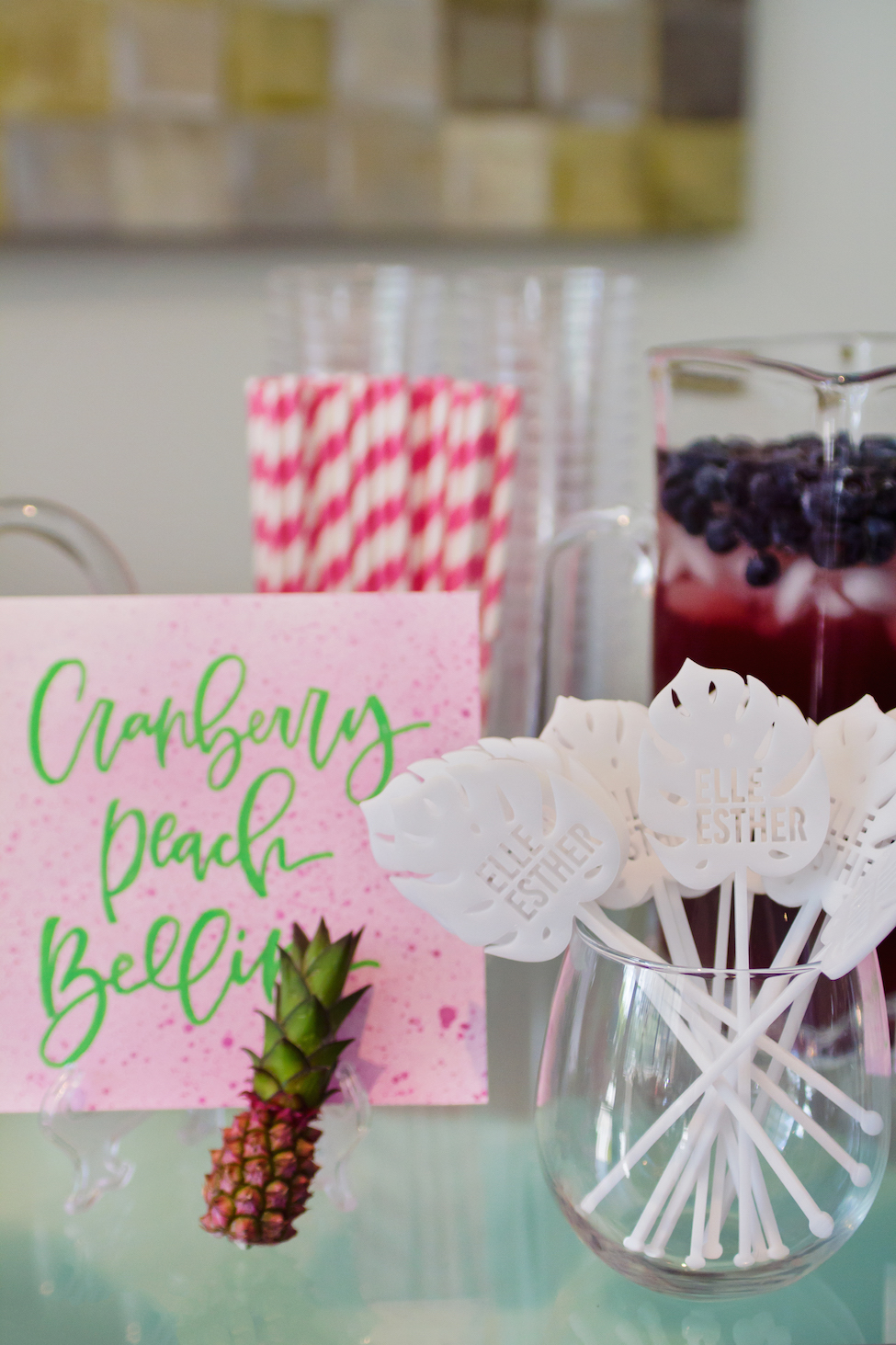 Elle\'s Tropical cELLEbration + 7 Tips for Hosting a Sip and See ...