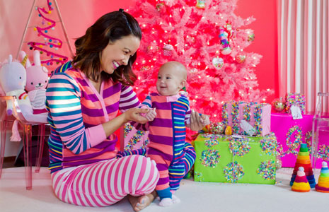 hanna andersson matching striped pajamas