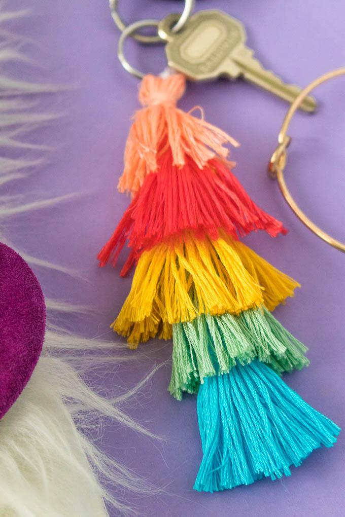 Dress up your Keys! How to Make a Layered Tassel Keychain