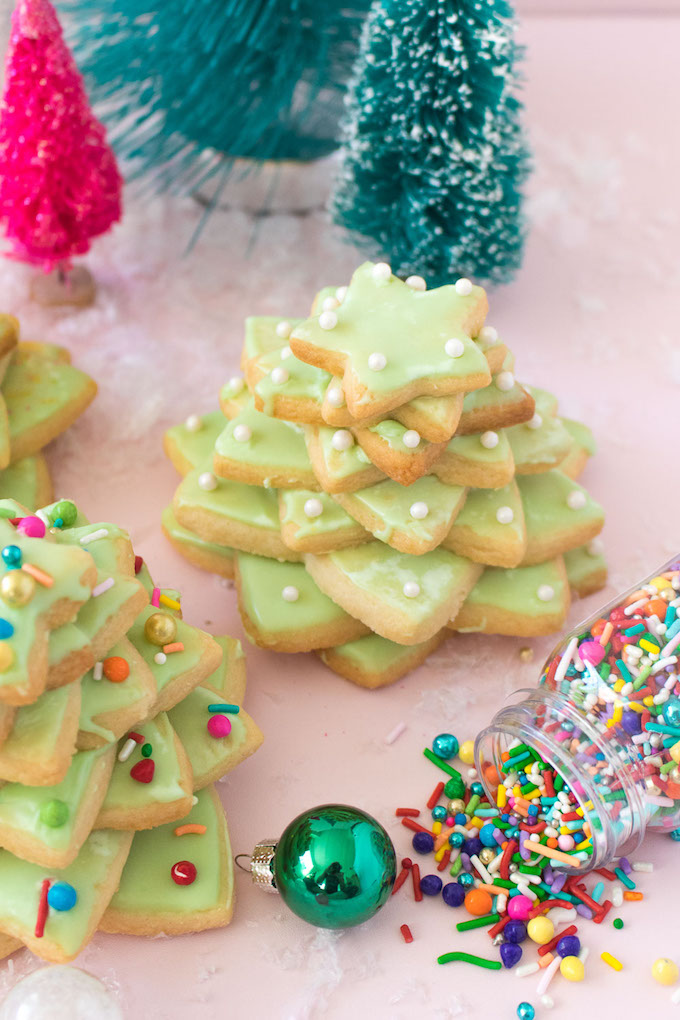 How To Make Christmas Tree Cookie Stacks Carrie Colbert