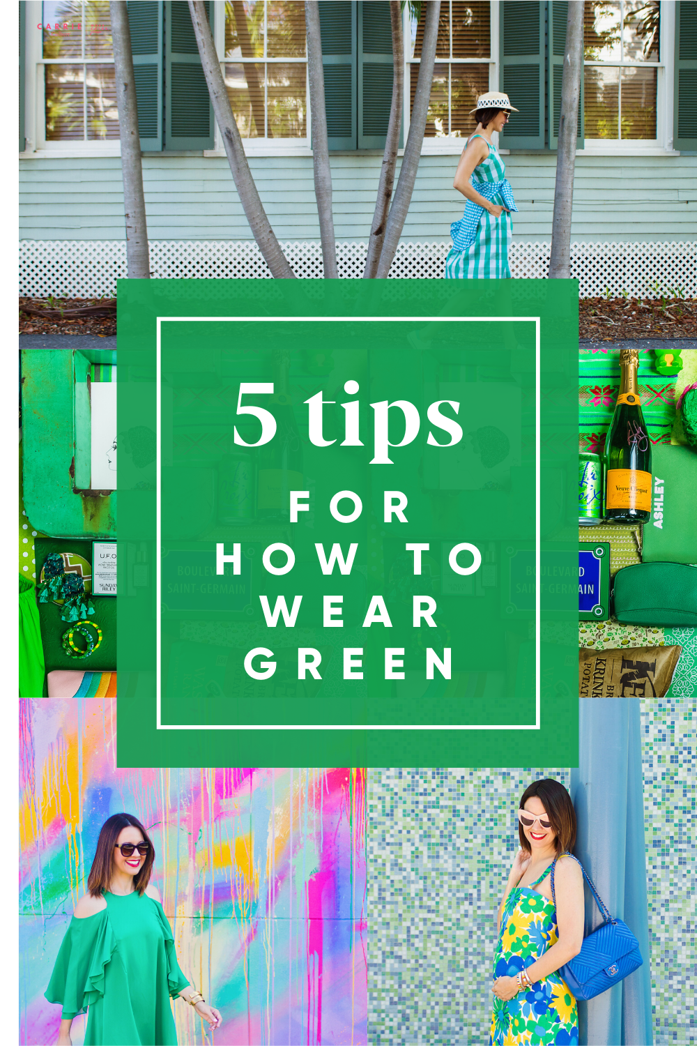 5 tips for wearing green